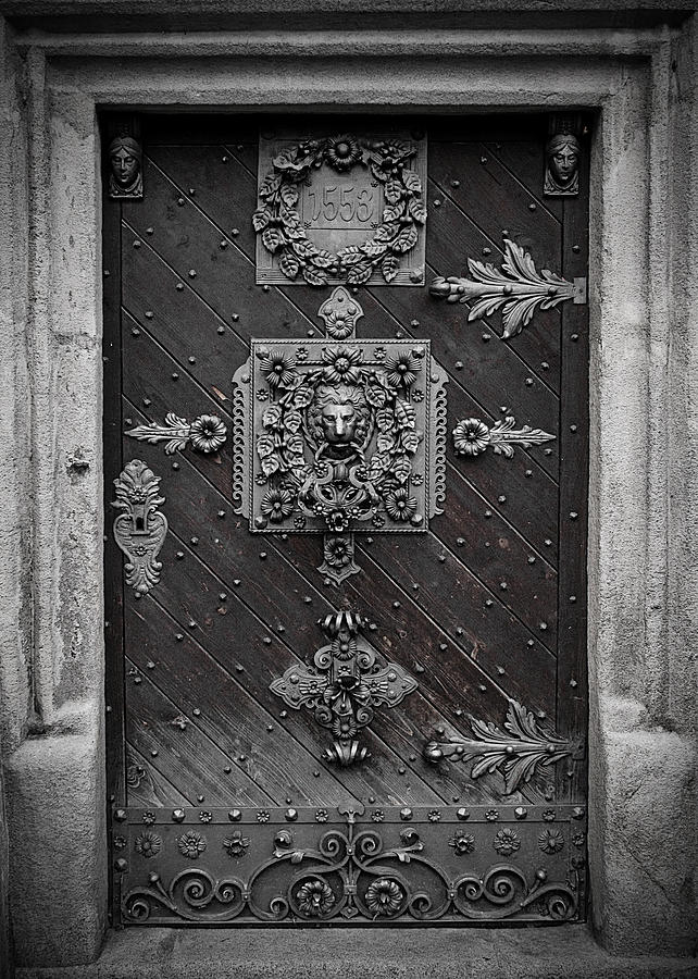 Door Photograph - Antique Doors In Budweis by Christine Till