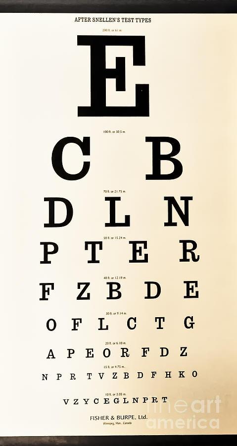 Antique Eye Chart Digital Art By Lori Frostad