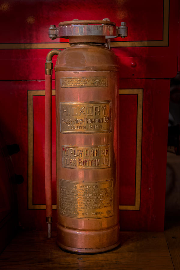 Fire Photograph - Antique Fire Extinguisher by Paul Freidlund