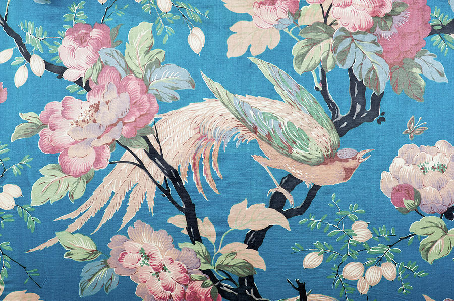 Antique Floral Fabric 88281-210-508 Photograph by Spiderplay