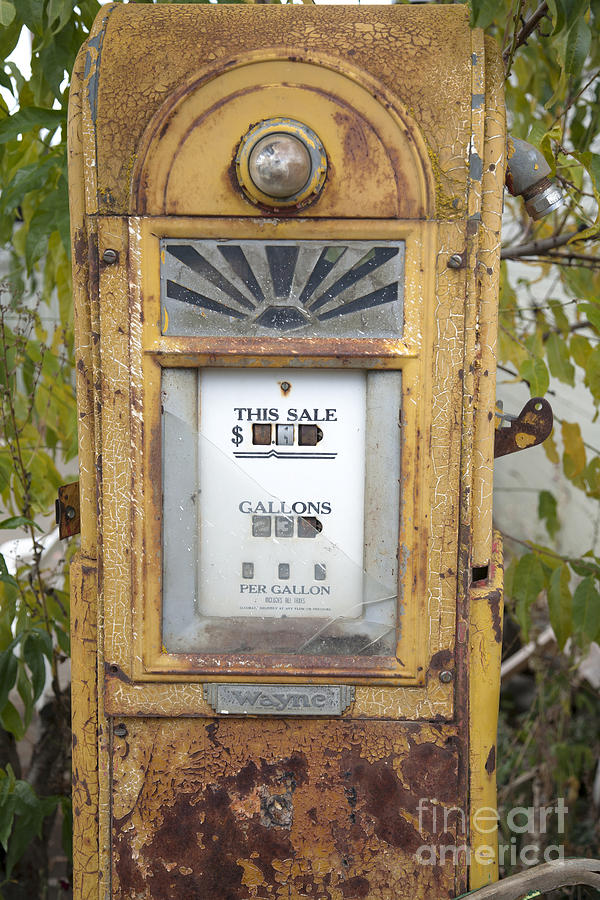 Abandoned Photograph - Antique Gas Pump by Peter French