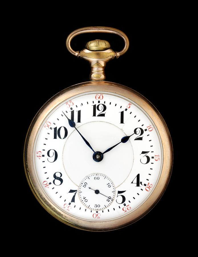 Pocketwatch Photograph - Antique Gold Pocketwatch by Jim Hughes