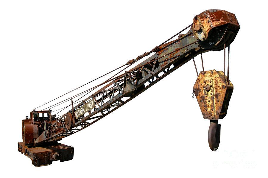 Hoist Photograph - Antique Industrial Hoist by Olivier Le Queinec
