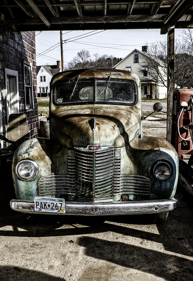 Antique Photograph - Antique International Pickup Truck by Dick Wood