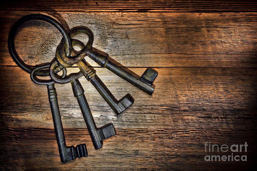 Keys Photograph - Antique Keys by Olivier Le Queinec & Antique Keys Photograph by Olivier Le Queinec