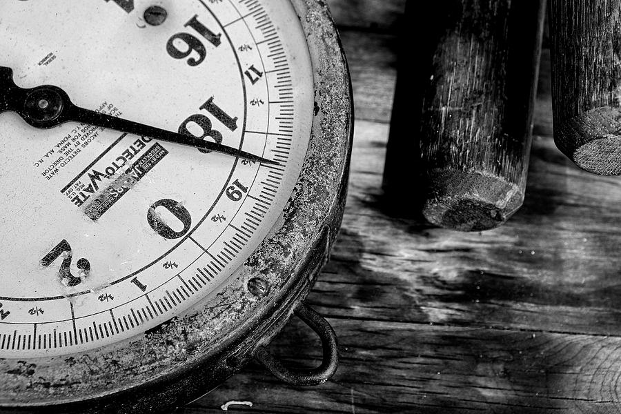 Scale Photograph - Antique Market Scale by Dick Wood
