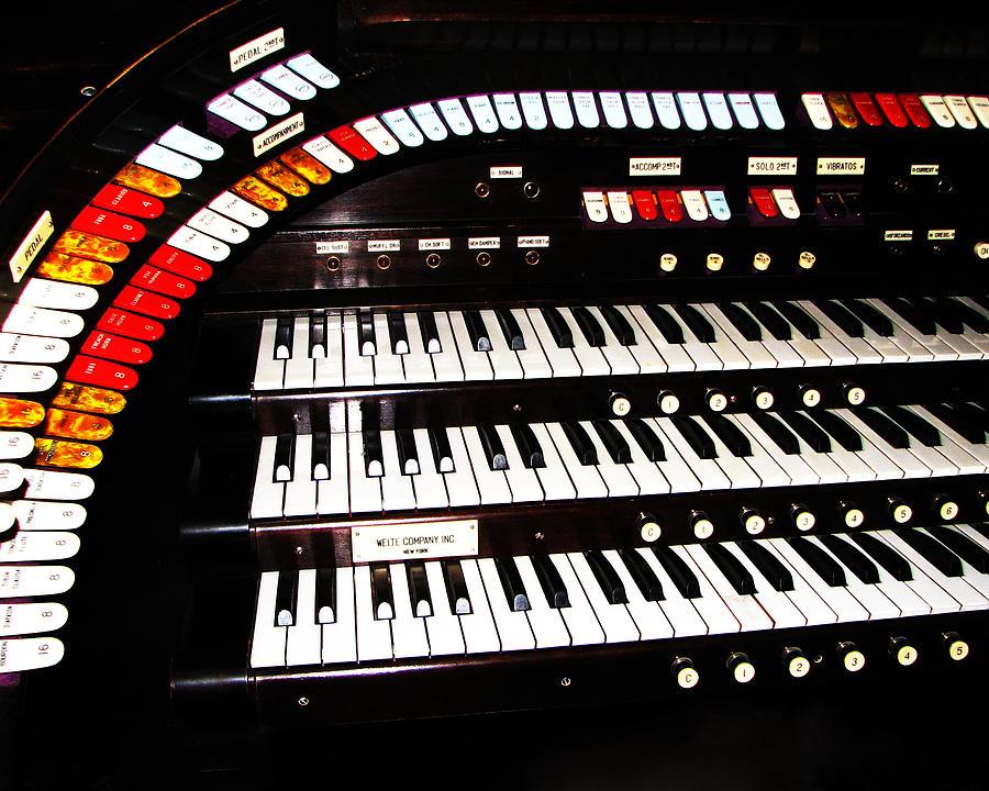 Antique Photograph - Antique Organ by Marcia Socolik