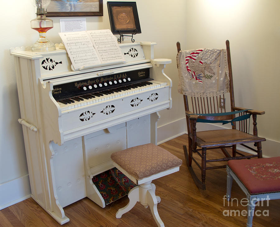 Antique Parlor Organ Photograph