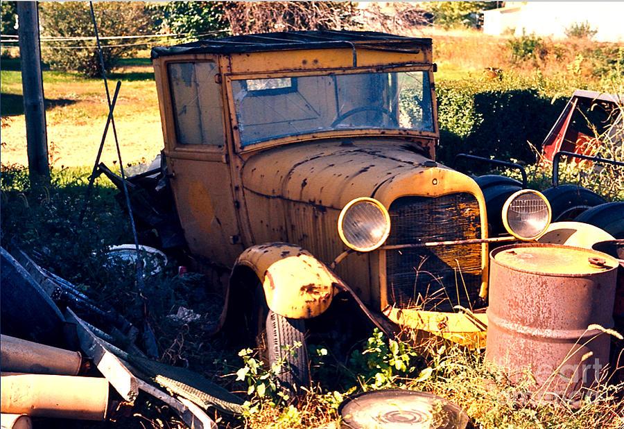 Antique Pick-up Truck Rusting Away Photograph by Robert Birkenes
