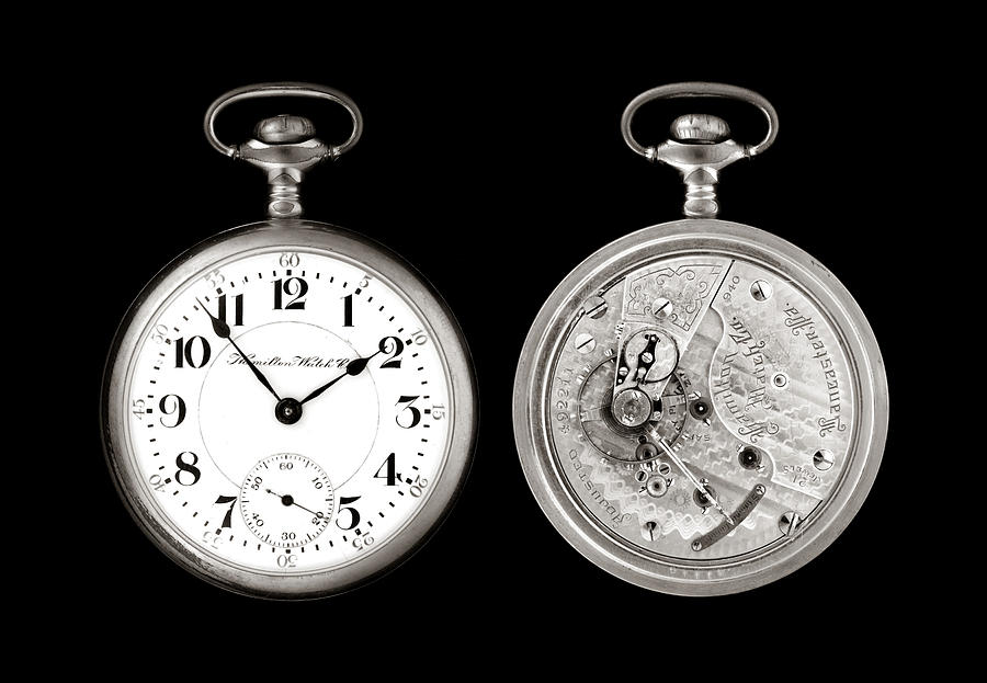 Pocketwatch Photograph - Antique Pocketwatch by Jim Hughes
