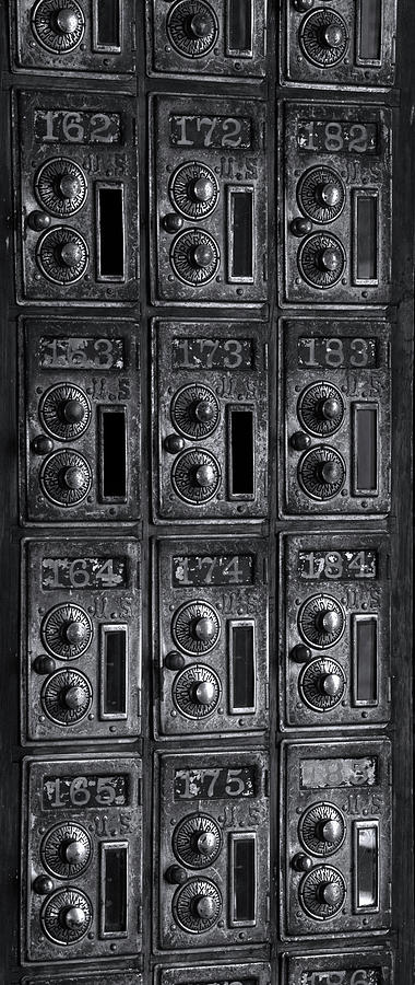 Vertical Photograph   Antique Post Office Boxes At Historic By Panoramic  Images