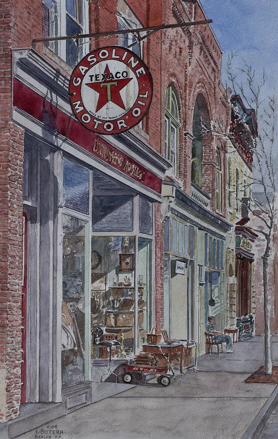Beacon Painting - Antique Shop Beacon New York by Anthony Butera