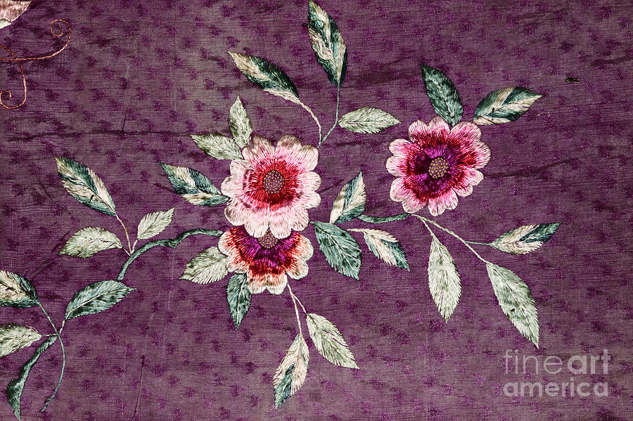 Vintage Silk Embroidery