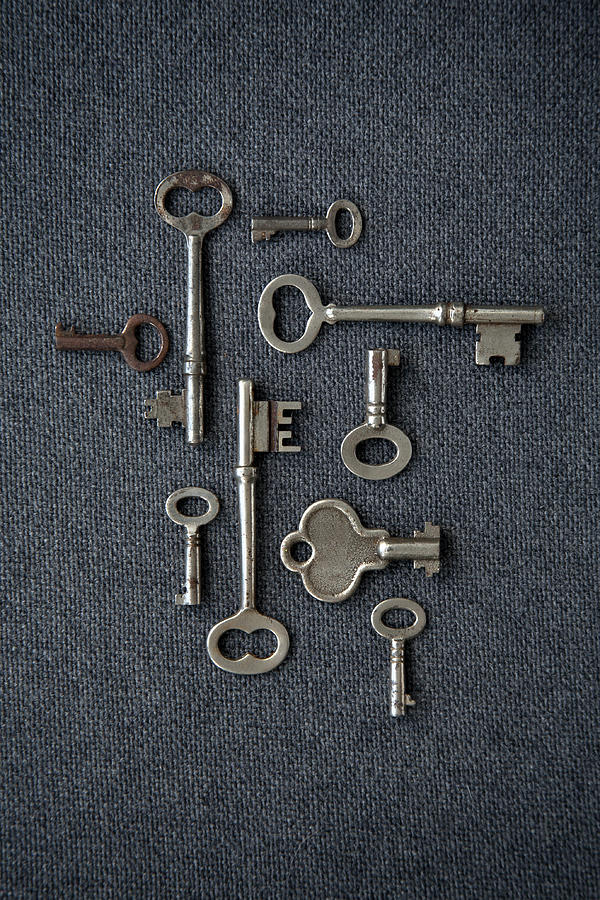 Antique Skeleton Keys Photograph by Brad Wenner