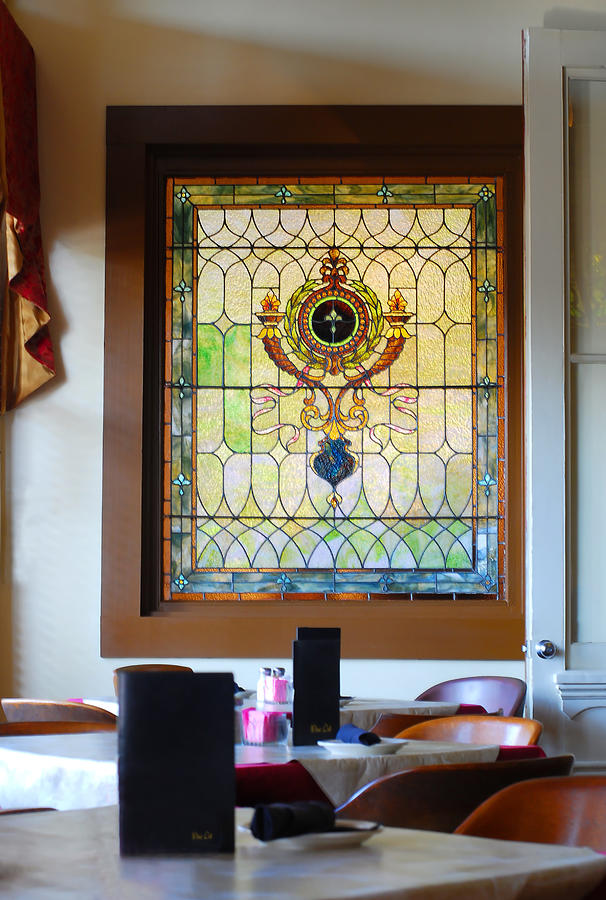 Antique Stained Glass Window At The Ant Street Inn Photograph By