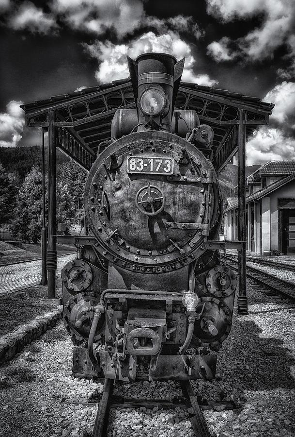 Antique Steam Locomotive Photograph