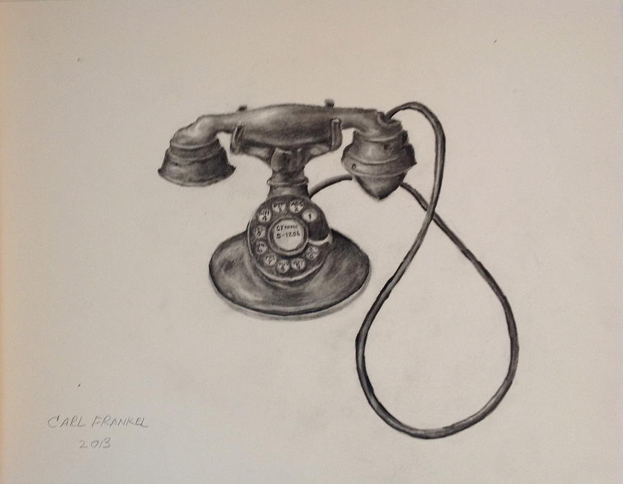 Antique Telephone Drawing By Carl Frankel