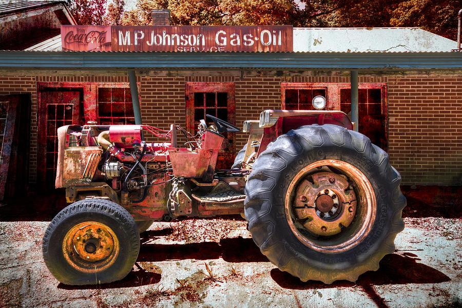 Appalachia Photograph - Antique Tractor by Debra and Dave Vanderlaan