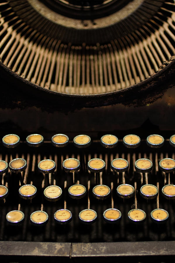 Antique Typewriter Photograph by Universal Stopping Point Photography