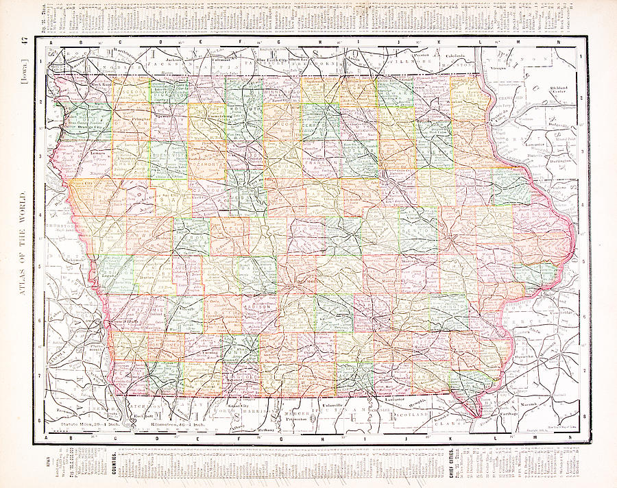 Antique Vintage Color Map Of Iowa, Usa by Qingwa on map of wisconsin, sioux center iowa, washington iowa, map of alabama, map of ohio, walnut iowa, altoona iowa, fremont iowa, ottumwa iowa, eldora iowa, decorah iowa, adel iowa, dyersville iowa, map of mississippi, toledo iowa, fort madison iowa, early iowa, airports in iowa, map of maine, red oak iowa, map of pennsylvania, road map iowa, adair iowa, google maps iowa, cities in iowa, map of kentucky, hull iowa,