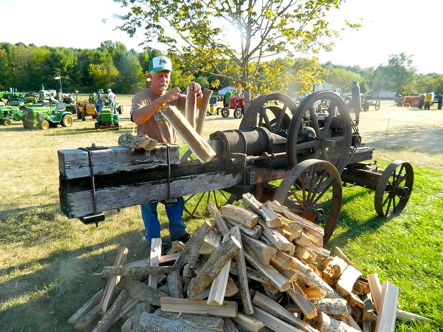 Wood Splitter For Sale >> Antique Wood Splitter Photograph By Randy Rosenberger