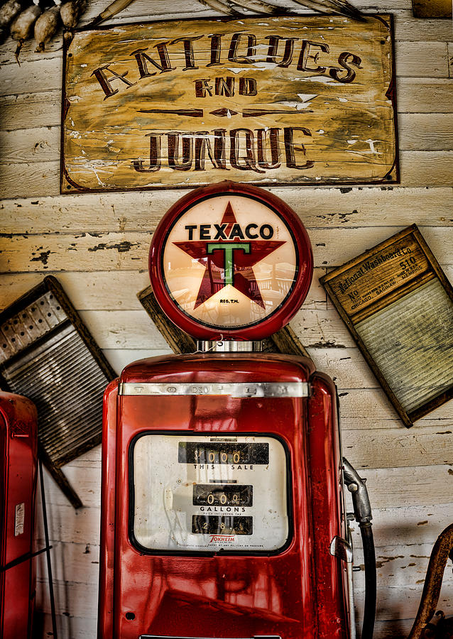 Gas Pump Photograph - Antiques And Junque by Heather Applegate
