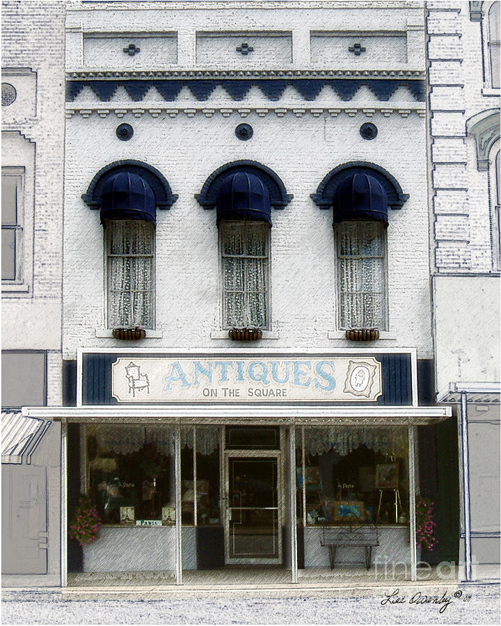 Antique Store Photograph - Antiques On The Square by Lee Owenby