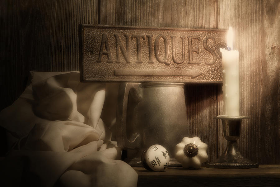 Antique Photograph - Antiques Still Life by Tom Mc Nemar