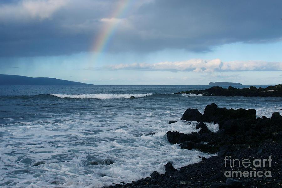 Aloha Photograph - Anuenue - Rainbow Over  Alalakeiki Channel Kihei Maui Hawaii by Sharon Mau