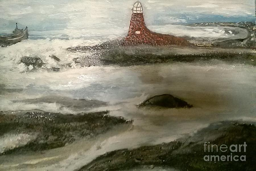 Ocean Painting - Anxious  Arrival by Sherry Clarke