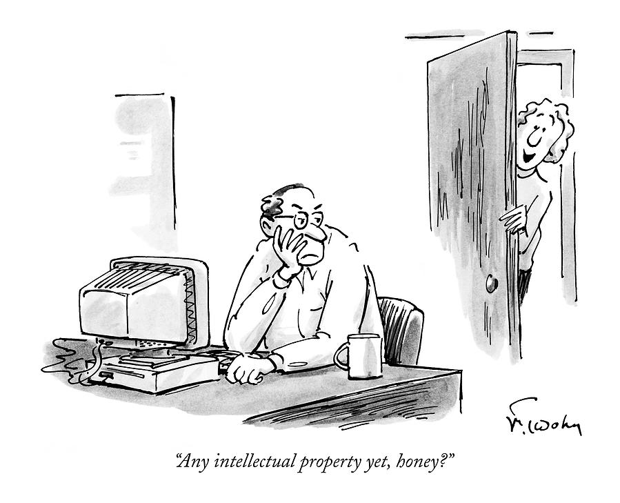 Any Intellectual Property Yet Drawing by Mike Twohy