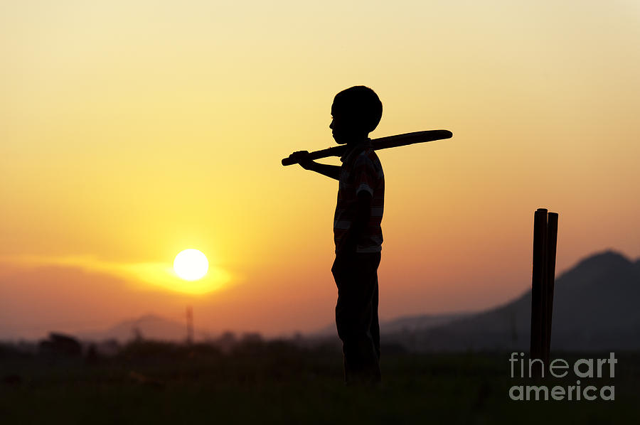 Indian Boy Photograph - Any One For Cricket by Tim Gainey