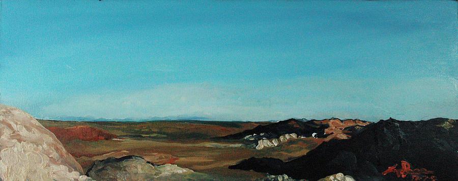 Landscape Painting - Anza - Borrego Desert by Joseph Demaree