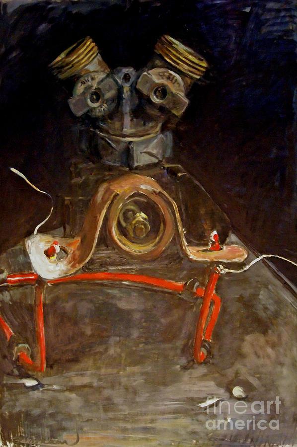 Anthropomorphic Painting - AP1 by Deb Putnam