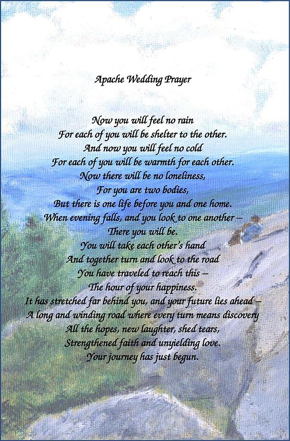 Apache Wedding Prayer Painting By Linda Feinberg