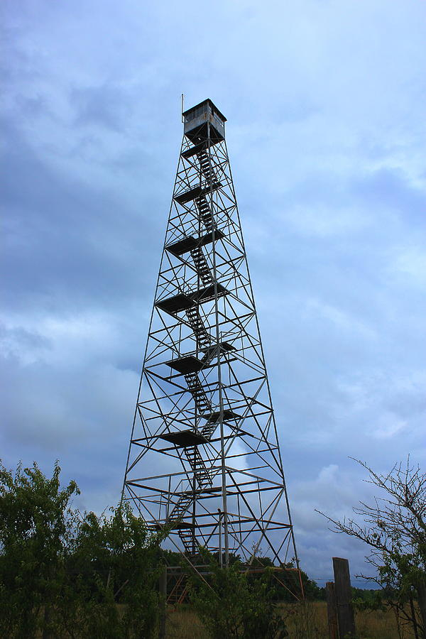 Fire Photograph - Apalachee Fire Tower In Morgan County by Reid Callaway