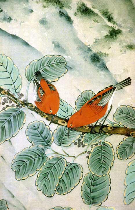 Nature Painting - Apapane by Terris Temple
