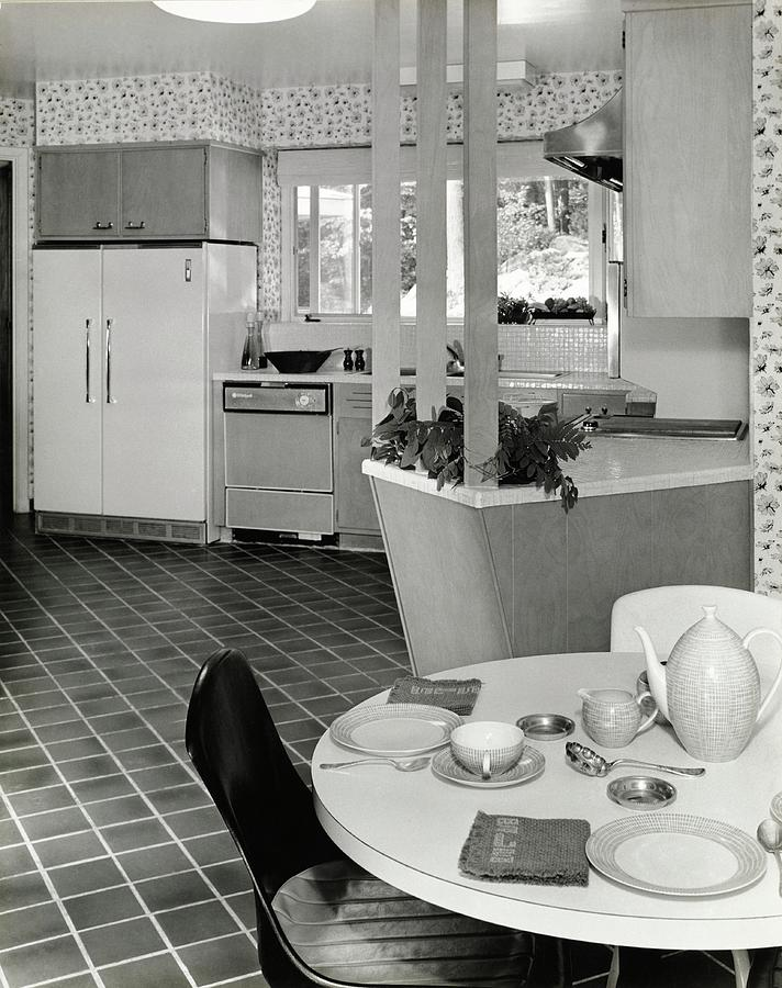Apartment Kitchen Designed By Bette Sanford Roby Photograph by Pedro E. Guerrero