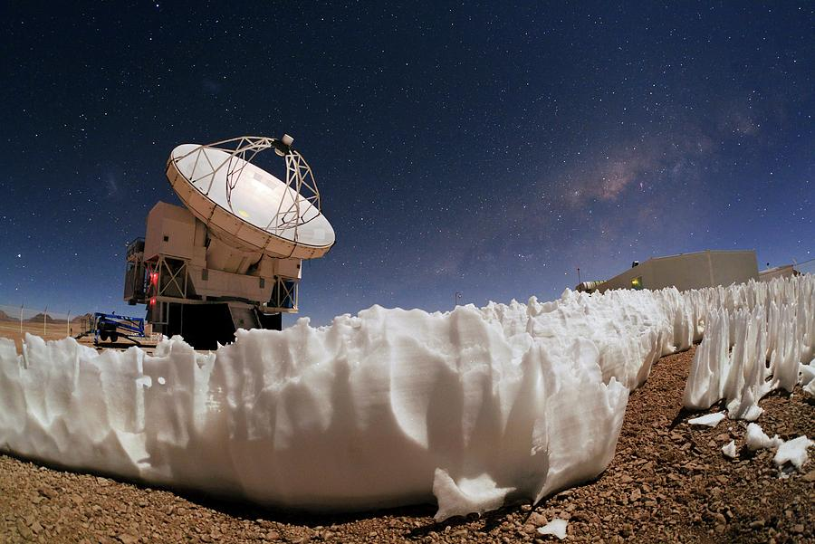 Apex Photograph - Apex Telescope And Ice Penitentes by Babak Tafreshi/science Photo Library