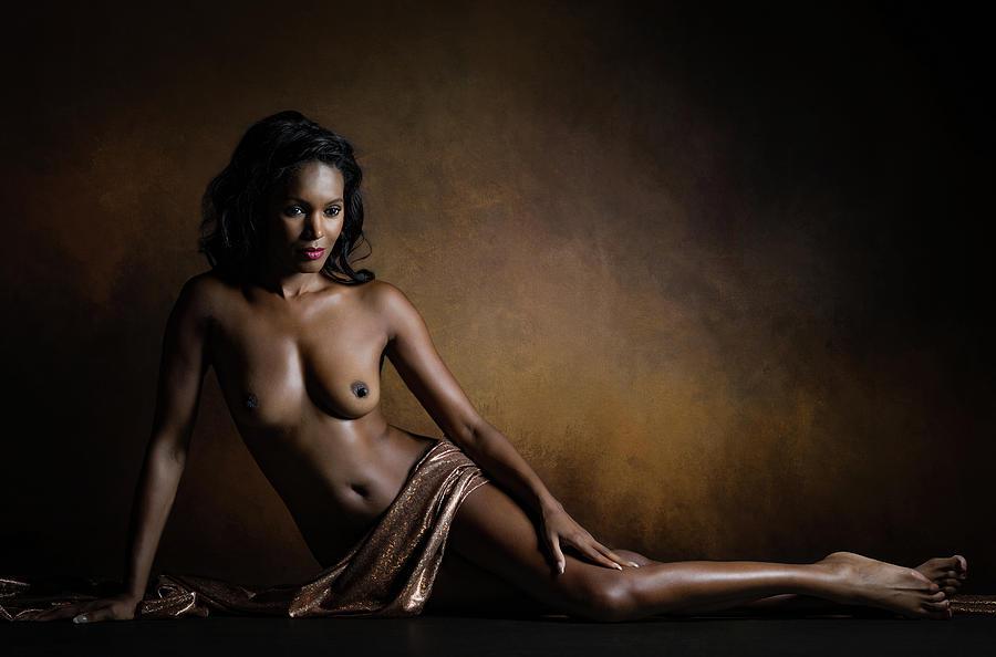 Portrait Photograph - Aphrodite Melaina by Luc Stalmans