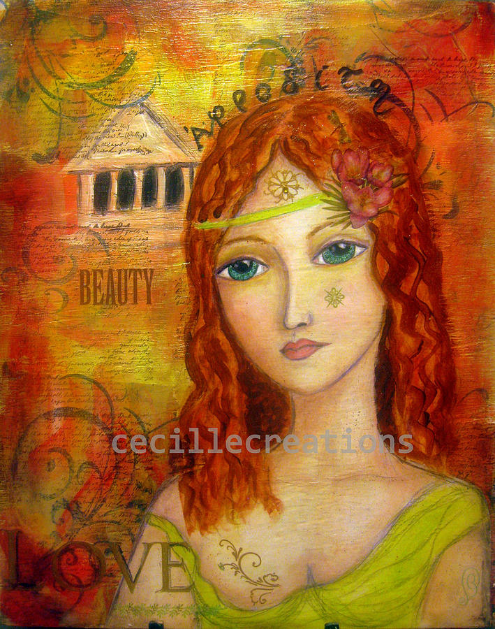 Aphrodite The Greek Goddess Of Love And Beauty Painting by ...