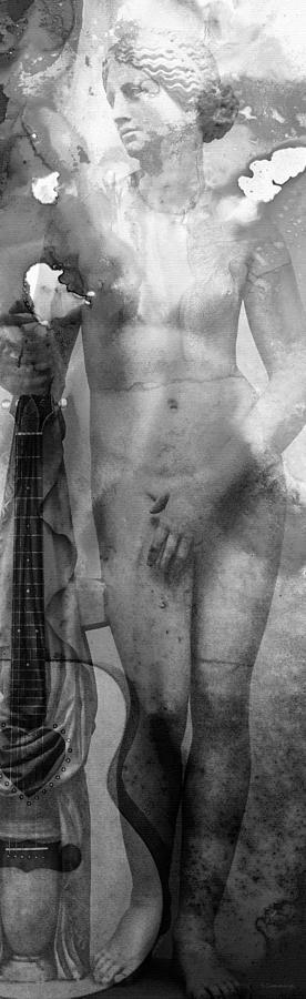 Sharon Cummings Painting - Aphrodites First Love 2 - Guitar Art By Sharon Cummings by Sharon Cummings
