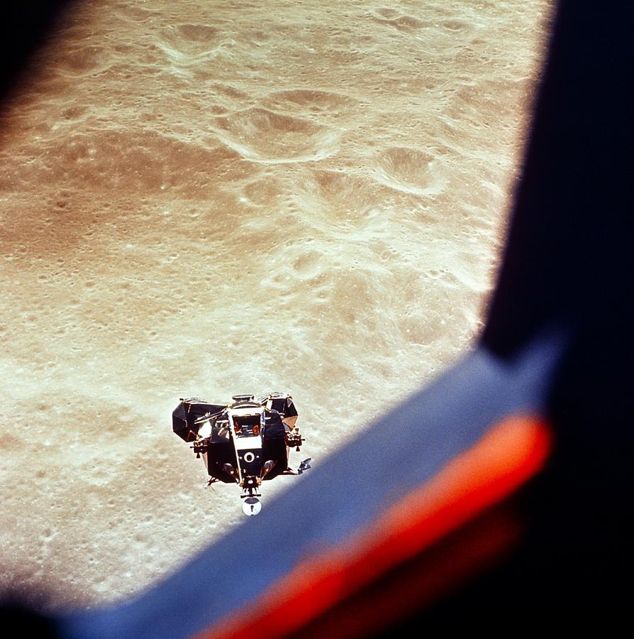 Apollo Photograph - Apollo 10 Lunar Module Above The Moon by Nasa/science Photo Library