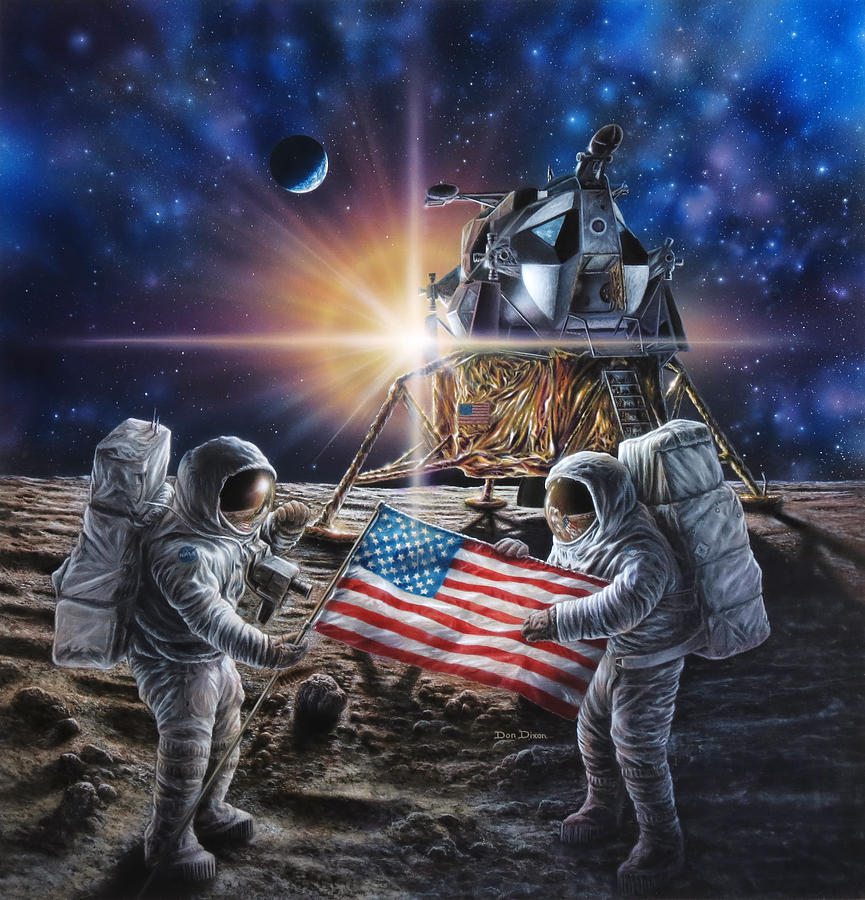 Space Painting - Apollo 11 by Don Dixon