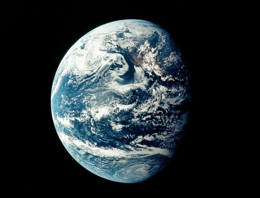 Apollo 11 Photograph - Apollo 11 Image Of Earth Showing Pacific Ocean by Nasa/science Photo Library