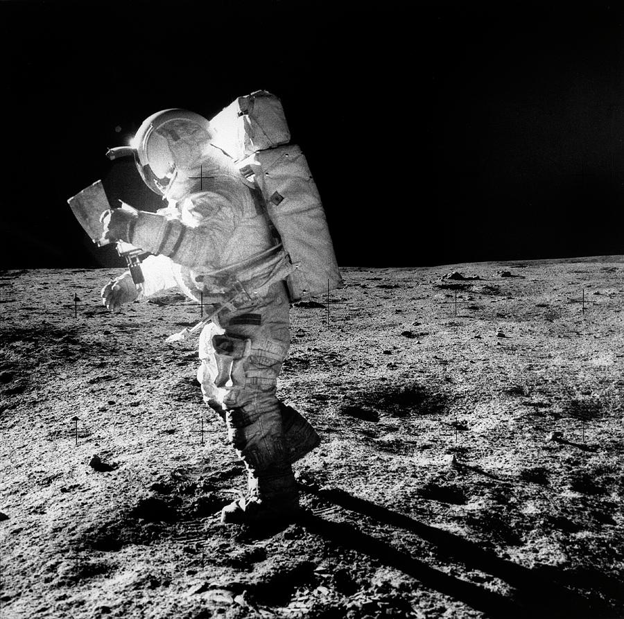 Astronomy Photograph - Apollo 14 Astronaut On The Moon by Nasa/detlev Van Ravenswaay