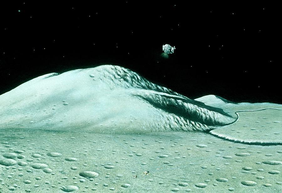 Apollo 15 Photograph - Apollo 15 Departs The Moon by David Hardy/science Photo Library
