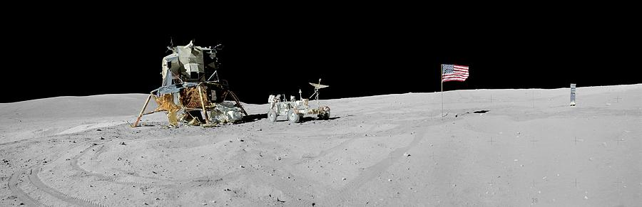 John Young Photograph - Apollo 16 Lunar Landing Site by Nasa/science Photo Library