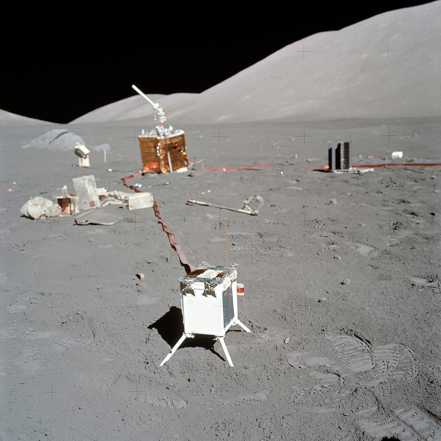 Equipment Photograph - Apollo 17 Alsep Equipment by Nasa