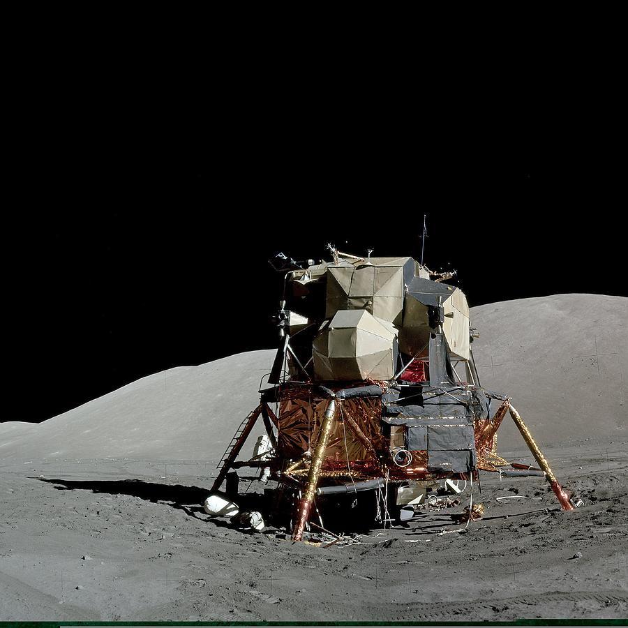 Apollo 17 Lunar Module, Astronaut Photo Photograph by ...